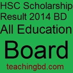 HSC Scholarship Result 2014 BD All Education Board