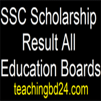 SSC Scholarship Result 2018 All Education Boards 1