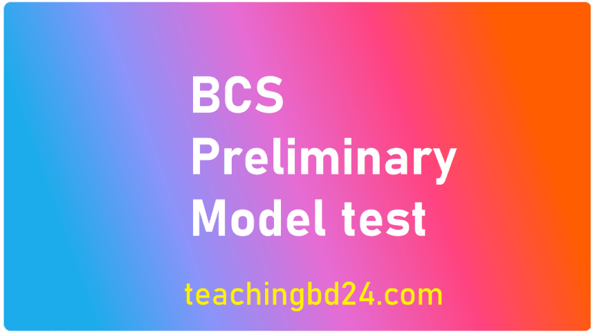 rdance with the provisions of the act.  36 BCS Preliminary Model Test-19
