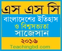History of Bangladesh and World Civilization Suggestion and Question Patterns of SSC Examination 2016