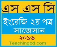 English 2nd Paper Suggestion and Question Patterns of SSC Examination 2016