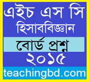 Accounting 1st Paper Question 2015 Dhaka Board 1
