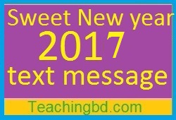 Sweet New year 2018 text message 1
