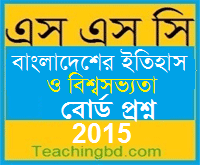 History of Bangladesh and World Civilization Board Question 2015