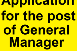 Application for the post of General Manager