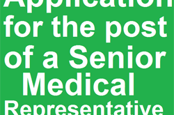 Application for the post of a Senior Medical Representative