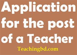Application for the post of a Teacher 1