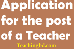 Application for the post of a Teacher