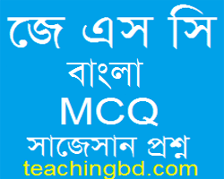 JSC Bengali 2nd Paper MCQ Question With Answer 2017