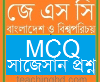 JSC Bangladesh and Bisho Porichoy MCQ Question With Answer Chapter 13