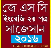 JSC English 2nd Paper Suggestion and Question Patterns 2016