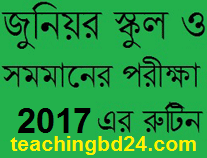 Junior School Certificate (JSC) Examination 2017 Routine