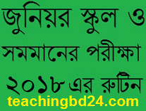 Junior School Certificate (JSC) Examination 2019 Routine 1