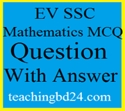 EV SSC MCQ Question Ans. Circle