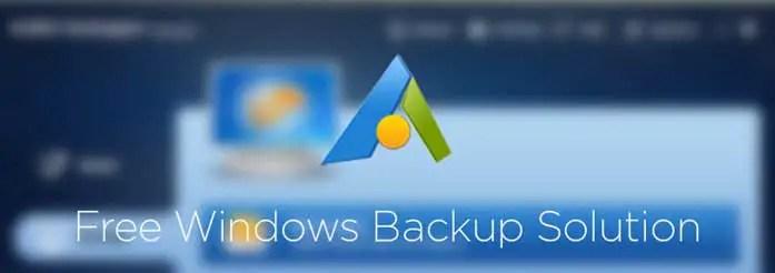 Free Windows Backup Solution