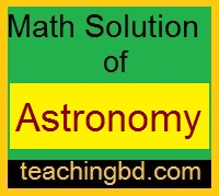 Math Solution of Astronomy