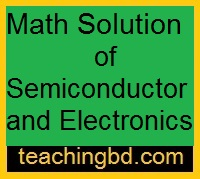 Math Solution of Semiconductor and Electronics 2