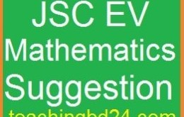 EV Mathematics Suggestion and Question Patterns of JSC Examination 2017