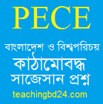 PECE Bangladesh and Bisho Porichoy Structured questions and answer suggestion 2020