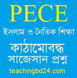 PECE Islam and Moral Education Structured questions and answer suggestion 2018