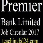 Premier Bank Limited Job Circular 2017 2