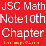 JSC Math Note 10th Chapter Circle