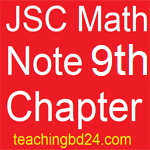 JSC Math Note 9th Chapter Pythagoras theorem