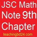 JSC Math Note 9th Chapter Pythagoras theorem