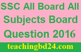 SSC All Board BV All Subjects Board Question 2016