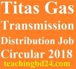 Titas Gas Transmission Distribution Job Circular 2018 2