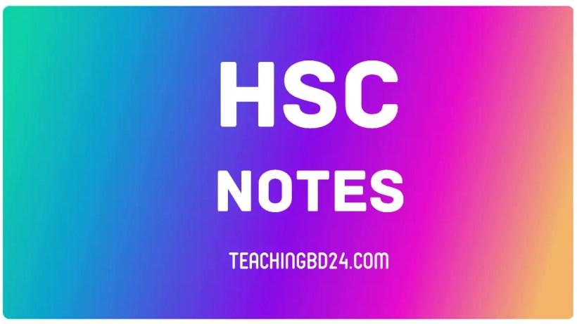 HSC Notes 1