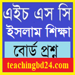HSC Islam Education 2nd Paper Question 2017 Rajshahi, Dinajpur, Jessore, Comilla and Sylhet Board