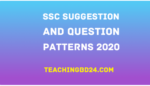 Suggestion and Question Patterns of SSC Examination 2020 19
