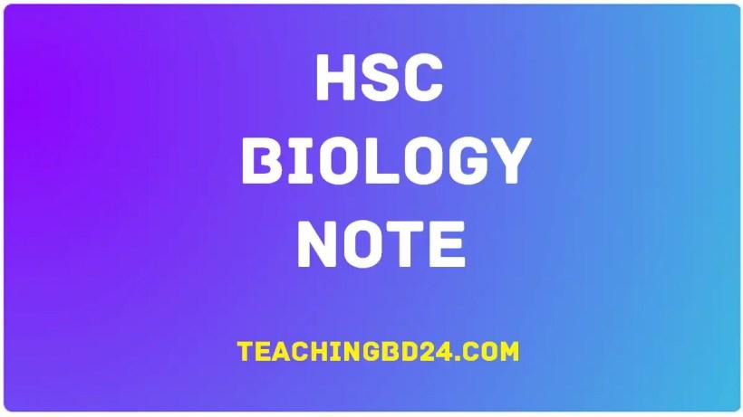HSC Biology Note 1
