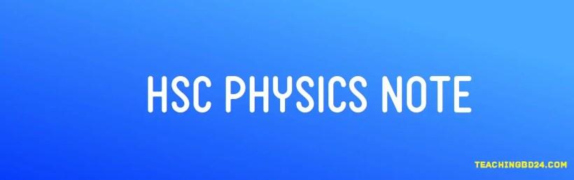 HSC Physics Note 1