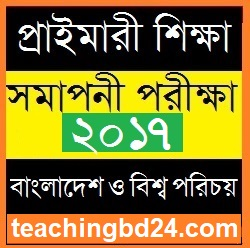PSC dpe Question of Subject Bangladesh and Bisho Porichoy 2017-4 1