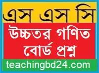 SSC Higher Math Question 2017 Dinajpur Board