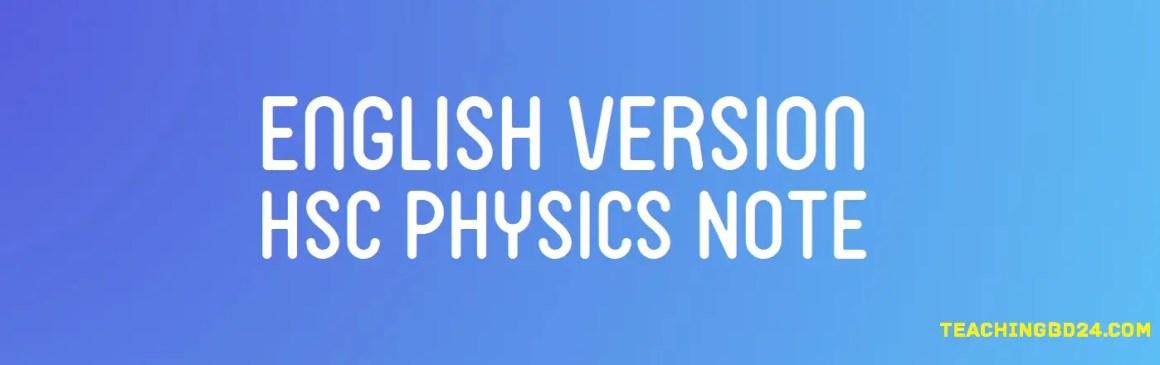 English Version HSC Physics Note 2