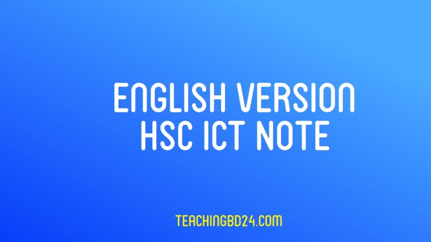 HSC Information and Communication TechnologyNote