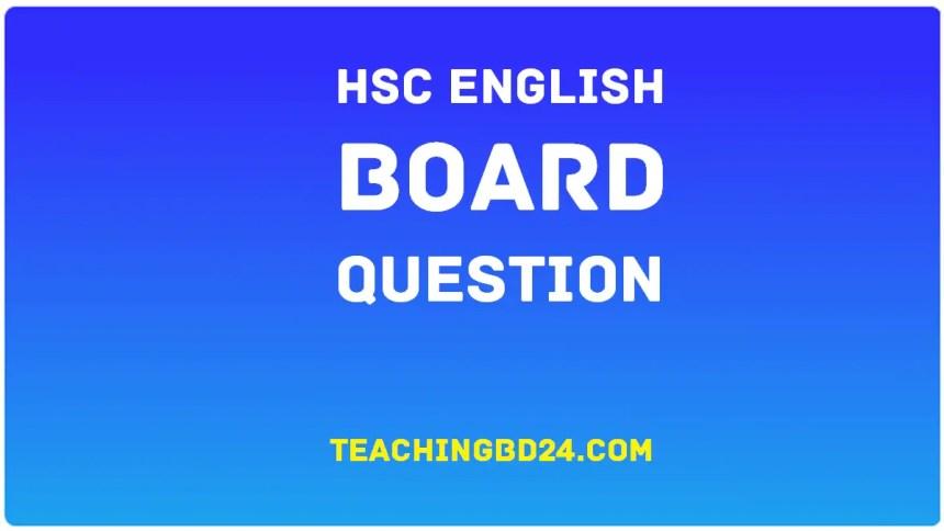 HSC All Board English 1st Paper Board Question 2018 1