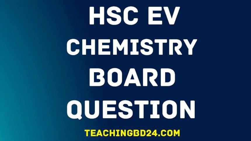 HSC EV Chemistry 1st Paper Board Question 2018