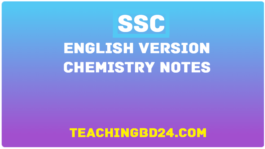 SSC EV Chemistry 4th Chapter Note
