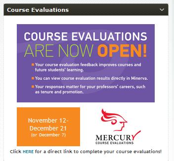 Course Evaluations Widget