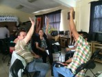 Mexican teachers doing a six-second drill