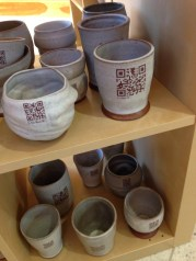 QR coded cups from the FLOW installation - mpflow2013.com