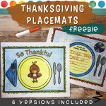 Thanksgiving Place Mat Cover
