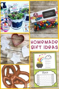 Homemade Gift Ideas that students with disabilities can make, perfect for Mother's Day, Teacher's Appreciation Week, Father's Day, End of the School Year, Christmas gift ideas, and more. These diy gift ideas are ideal for special education students or children with disabilities too.