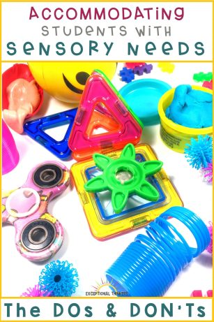 fidget spinners and sensory toys