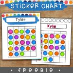 Sticker chart for behavior management