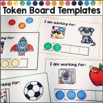Token board templates for behavior management
